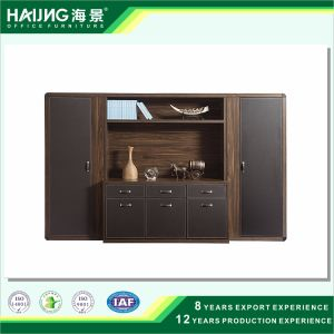 Elegant Wooden Combination with Drawers Vertical Office Filing Cabinet