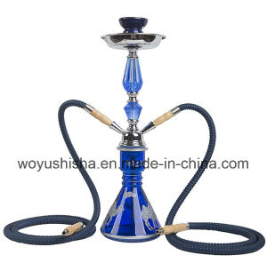 Blue Iron Shisha with Double Pipes Hookah pictures & photos