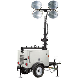 Ptlt-4000A Mobile Construction Light Tower with Diesel Generator pictures & photos