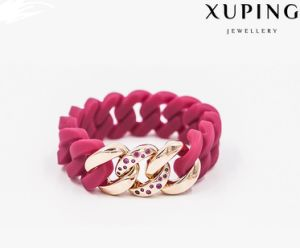 Xuping New Arrival Rhodium Plated Rubbzz Fashion Bangle in Silicone Material (51693) pictures & photos