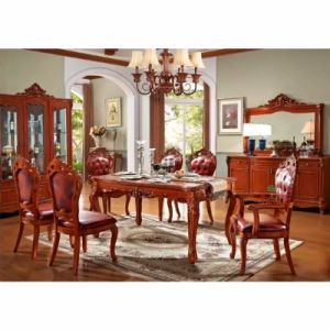 Dining Room Furniture with Wood Table and Wine Cabinet pictures & photos