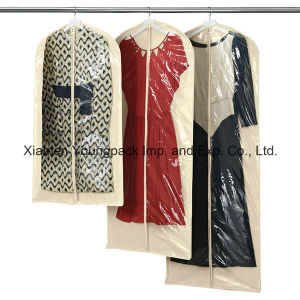 Fashion Customized White Men′s Non-Woven Polypropylene Suit Garment Cover pictures & photos