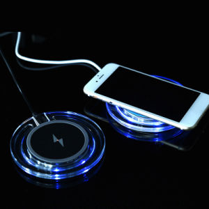 5V 1A Wireless Cell Phone Charger Crystal Wireless Charging Pad pictures & photos