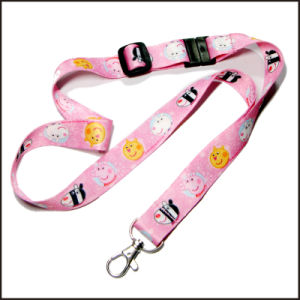 Cute Fun Pink Gradient Dye Sublimated/Thermal Transfer Logo Custom Lanyard for Girls pictures & photos