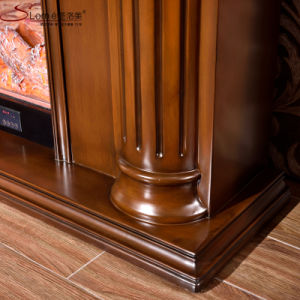 European Home Depot Livingroom Wood Fireplace Mantel for Sale (GSP14-003) pictures & photos