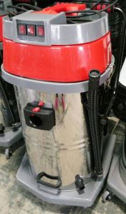 Red Color 80L Three Motors Wet and Dry Industrial Vacuum Cleaner with Low Price pictures & photos