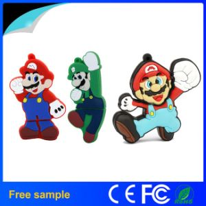 Cartoon Design PVC Mairo Flash Memory 1-128GB USB Disk