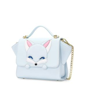 New Arrival Cute Fox Patchwork Flap Winged Kids′ Handbags