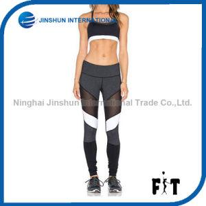 Women Fashion Breathable Gauze Splice Leggings Color Block Fitness Pants pictures & photos