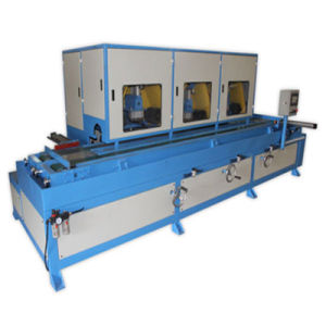 3 Heads Metal Hairline Polishing Machine for Lock Panel pictures & photos