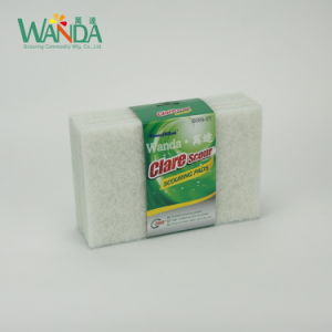 Non-Abrasive White Kitchen Scrubber Cleaning Pad Scouring Pad pictures & photos