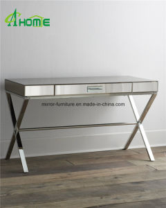 Stainless Steel Base Crystal Mirror Top Modern Console Table pictures & photos
