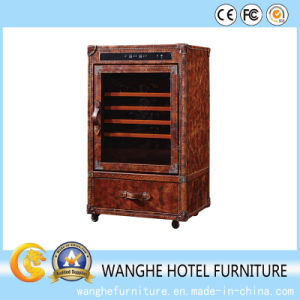 Hand Made Leather Furniture Newest Modern Wine Cabinet pictures & photos