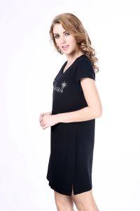 Women′s Print Designer One Piece Dress Simple T-Shirt Dress pictures & photos