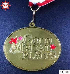 "Custom Epoxy 3"" Round Blank Metal Medals with Ribbon pictures & photos"