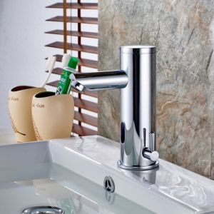 FLG Chrome Finished Bathroom Basin Vessel Auto Sensor Faucet pictures & photos
