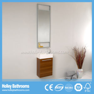 Compact Wall Mounted MDF Melamine Finished Bathroom Vanity (BF362D) pictures & photos