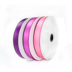 Wholesale Custom Logo Polyester Double Sided Satin Ribbon by The Yard pictures & photos