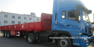 13 Meters Flatbed Semitrailer with Side Wall pictures & photos