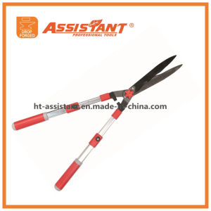 Telescopic Aluminum Handles Hedge Shears with Hardened Steel Straight Blades pictures & photos