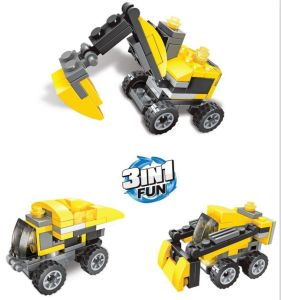 Kids Plastic 3 in 1 Construction Truck Blocks Toy pictures & photos