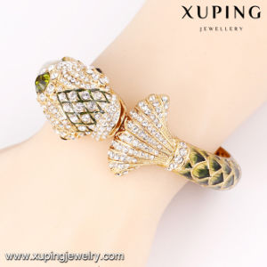 New Arrival Fish Design Luxury Rhinestone Bangle in 24k Gold Color pictures & photos