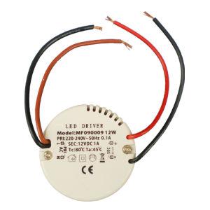 LED Power Supply DC 12V Round LED Driver with 12W pictures & photos
