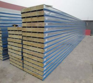 Fire Resistant Rockwool Sandwich Panels for Warehouse pictures & photos