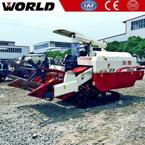 Mini Rice Harvester Machine 4lz-4.0e 88HP Combine Rates pictures & photos