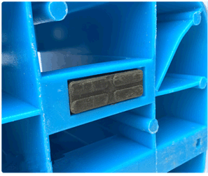 1300*1100*155mm Grid Plastic Pallet 1ton Loading Plastic Pallet for Warehouse Products pictures & photos