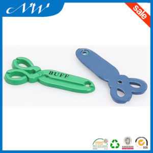 Custom Logo Scissors Personalized Metal Alloy Labels pictures & photos