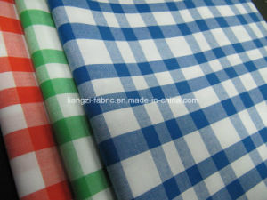 100% Cotton Yarn Dyed Poplin Checks Fabric pictures & photos
