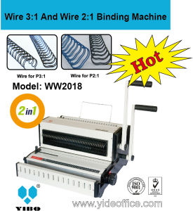 Manual Binding Machine for Wire 3: 1 and Wire 2: 1 (WW2018) pictures & photos