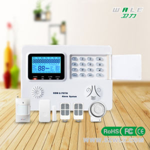 LCD 99 Wireless Zones Remote Control GSM PSTN Alarm System pictures & photos