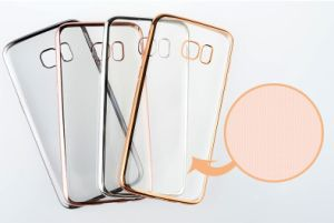 Electroplating Plating Case Soft TPU Ultra Thin Transparent Clear for iPhone 7 7plus Phone Cover (XSDD-006) pictures & photos