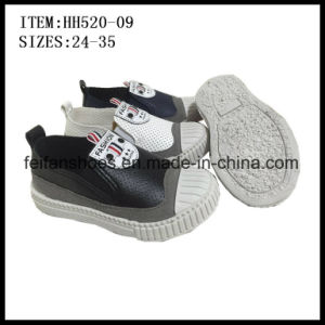 New Design Children Slip-on Shoes Injection Canvas Shoes Factory (HH520-09) pictures & photos