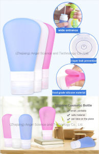 BPA Free Squeezable Silicone Cosmetic Bottle for Travel Scb01 pictures & photos
