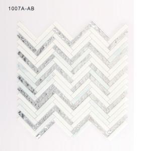 Wholesale Kitchen Backsplash Crystal Glass Mosaic Tile Hand Cut pictures & photos