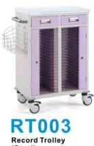 Stainless Steel Medical Cart Record Trolley for Patient File pictures & photos