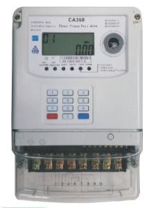 Three Phase Four Wires Sts Keypad Prepaid Energy Meter pictures & photos