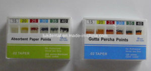 Hot Sale Dental Disposable 02 Absorbent Paper Points pictures & photos