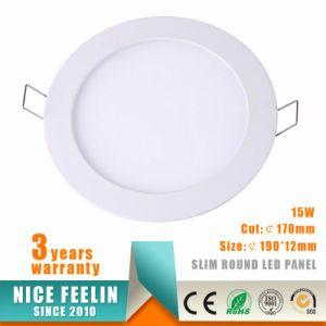 Ultra Slim Round Ressed 15W LED Panel Light with Ce Certificate pictures & photos