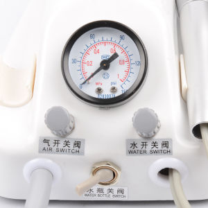 Dental Lab Portable Air Turbine Unit Fit Compressor Handpiece with syringe pictures & photos