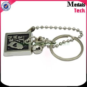 China Supplier OEM Antique Silver Metal Keychain with Engraving Letter pictures & photos