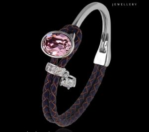 51597 Fashion Luxury Leather Crystals From Swarovski Jewelry Bangle pictures & photos