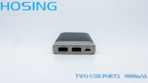 9000mAh Two USB Port Special Material Power Bank for Cellphone pictures & photos