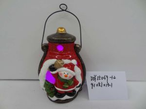 Pottery Lantern for 2017 Christmas Decoration pictures & photos