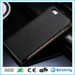 Vertical Genuine Leather Pouch Flip Case for iPhone 6 7 Plus pictures & photos
