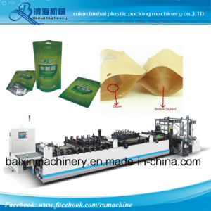 Fully Automatic Three Side Stand up Zipper Bag Making Machine pictures & photos