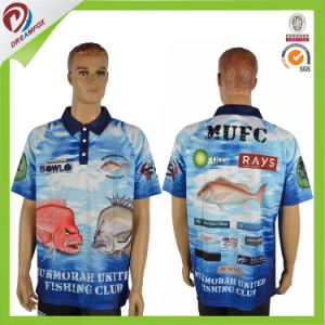 Custom Cool Pass Short Sleeve Breathable Fishing Polo Shirt Design pictures & photos